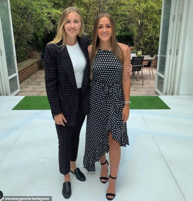 Georgia Stanway has won high praise from England Women's boss Phil Neville, who has said the Manchester City player could be among the best in the world (pictured right, Georgia, and right, teammate Leah)