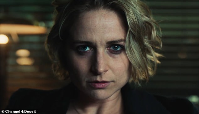 Tensed: Niamh Algar (pictured) is an undercover cop used as bait for a suspected murderer following the murder of Rachel Nickell in trailer for Channel 4 drama Deceit, released Thursday