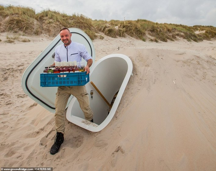 There is no need to dispose of soil when installing the Groundfridge, it can also be buried under sand (although your local authority may have something to say if it is not on your own land)