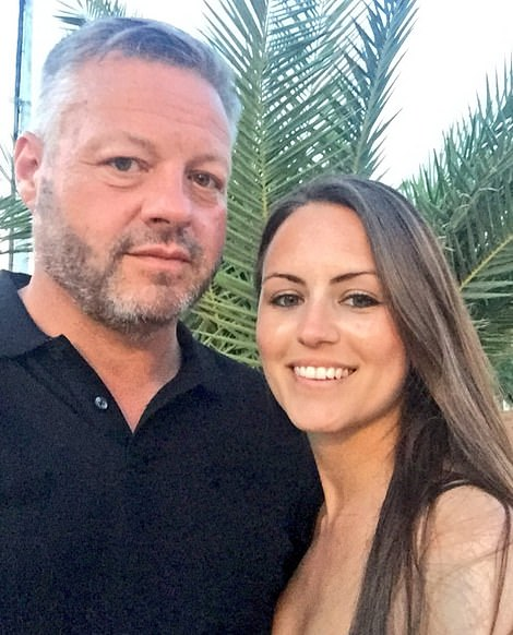 Heartbreaking: Mick is pictured with girlfriend Samantha Keahey