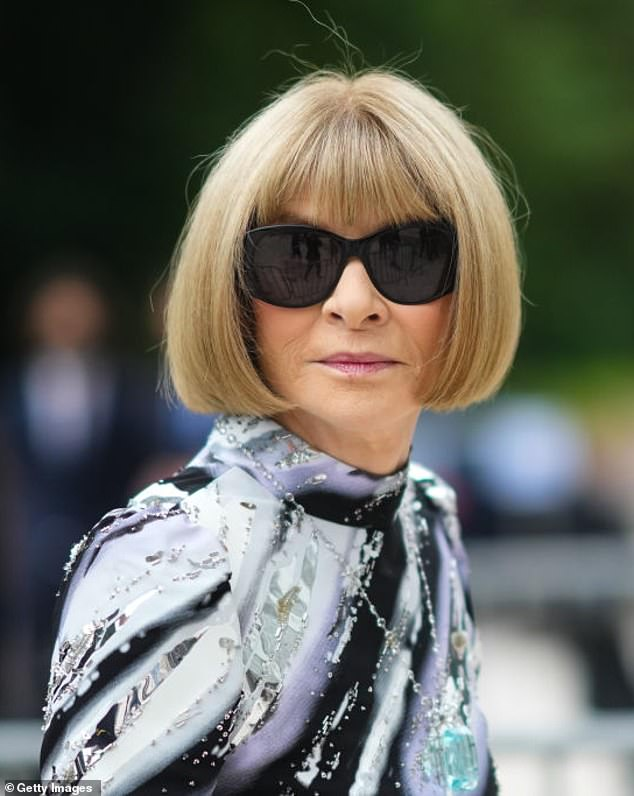"""Anna Wintour has said that wearing sunglasses... """"incredibly useful because you prevent people from knowing what you're thinking"""""""