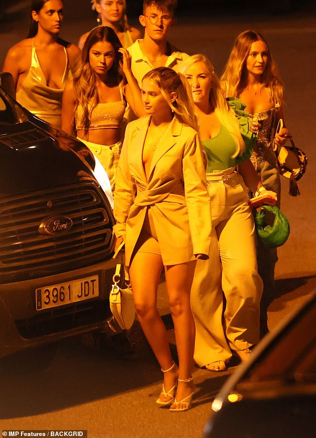 Stylish: The group looked as if they were in high spirits as they enjoyed their trip
