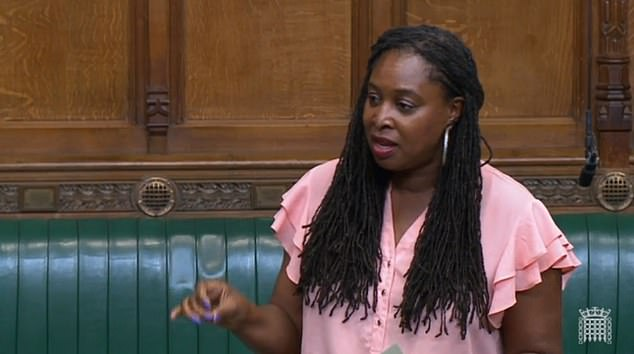 Dawn Butler was told to leave the seat after an extraordinary rant about how 'poor people paid with their lives' because of the prime minister 'misleading the House'