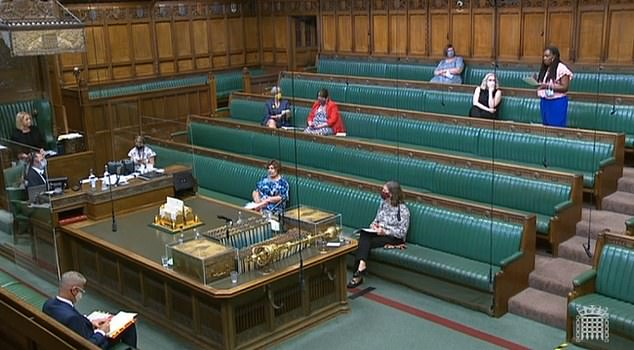 Brent Central MP mounted the protest during an education debate in the chamber today
