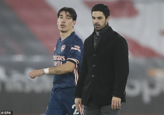 Bellerin played in just three of the last 13 Premier League games of 2020-21 for Mikel Arteta's men mannen