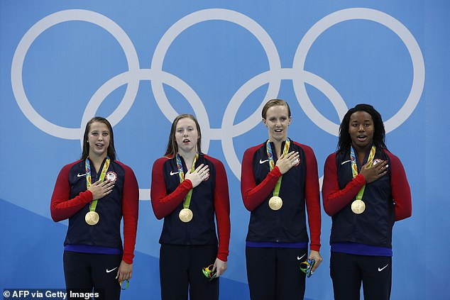 Team USA women the women's 4x100m medley to claim their 1,000th Olympic gold medal