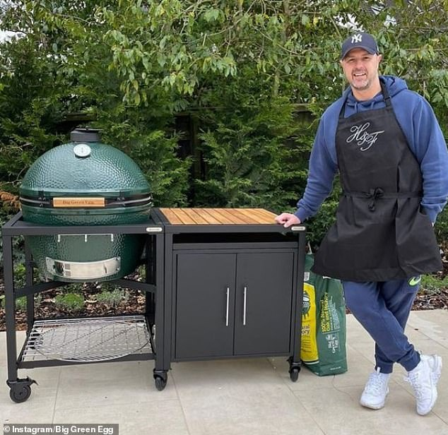 Paddy McGuiness (shown here with a Big Green Egg) was previously posted about on the company's Instagram account