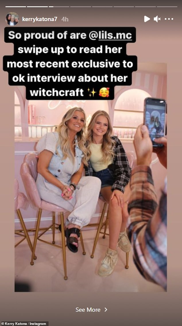 Coincidence?  During a recent photo shoot with her former pop star mom, who recently used her Instagram story to congratulate her daughter on the announcement, Lilly claimed to have met three or four fellow witches there.