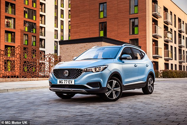 EVs are said to be less expensive to maintain and service. For instance, index claims the average servicing cost for the MG ZS EV (pictured) are £494 cheaper than a petrol Seat Ateca