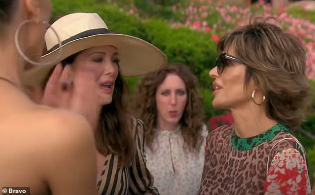 Funny: Lisa Vanderpump jokingly asked him, 'Which one was better?'
