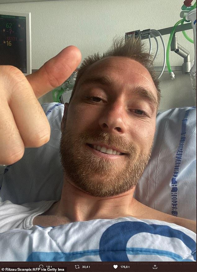 Eriksen now has an implantable cardioverter defibrillator (ICD) to monitor his heart rhythm