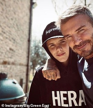 Based in Hampshire, the brand has a number of high profile fans, including Michelin-starred chef Tom Kerridge and a host of top celebrities, including former England star David Beckham (pictured with a Big Green Egg in the background)
