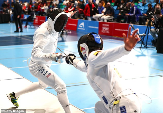 Hadzic, pictured competing in the Men's World Epee Championship in February 2020, has been accused of sexual misconduct by three women