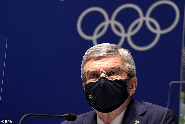 The IOC - led by Thomas Bach (above) - says athletes can 'express their opinions' before and after the competition, but not on stage