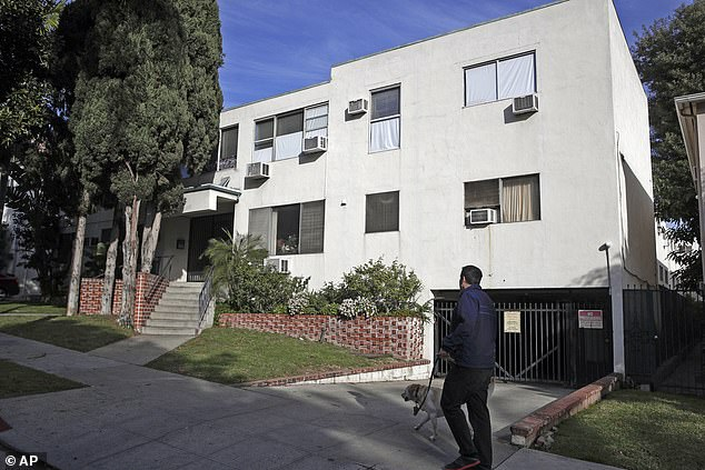 Prosecutors say dozens of men entered the 'gates of hell' when they went to Buck's apartment in West Hollywood (pictured above)