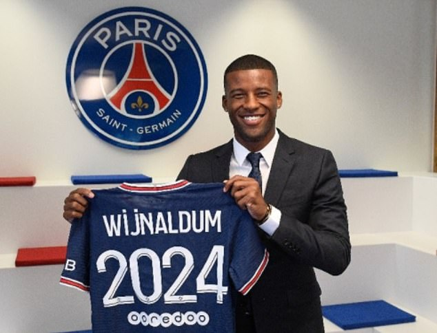Paris Saint-Germain have officially unveiled Wijnaldum as their latest signing on a free transfer