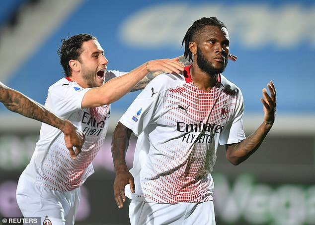 Kessie (right) enters the final 12 months of his San Siro deal and his future is uncertain