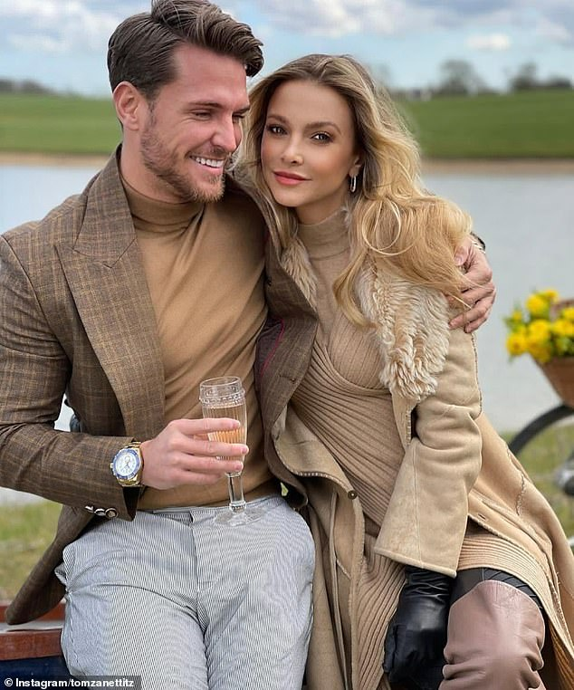 Past love:Sophie dated DJ Tom Zanetti for four months before they ended their relationship last month. Pictured in April 2021