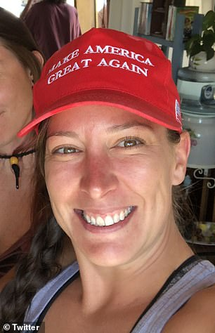 Ashli Babbitt (pictured) was the woman shot and killed in the US Capitol when Donald Trump supporters stormed the building and violently clashed with police in an attempt to stop Joe Biden's victory.