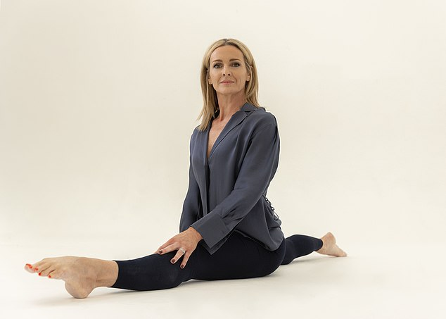 Gabby Logan gears up for her own Olympic marathon, with the former gymnast proving she can still do the splits