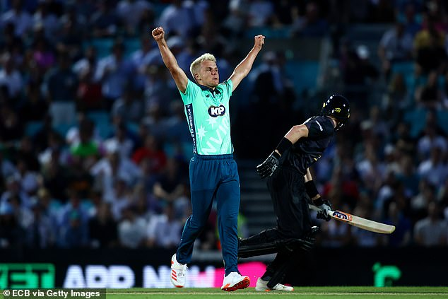 Sam Curran took two wickets to then help the hosts defend their score of 154 for eight