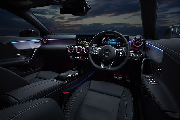 The Mercedes range also includes the CLA 250 e plug-in hybrid from £39,450 which has an all-electric range of up to 44 miles