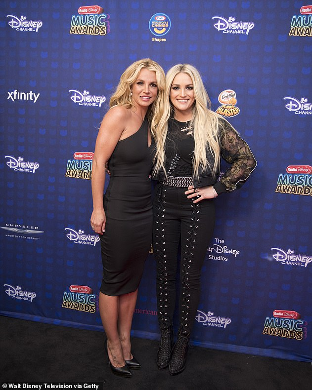 Splashing?  Fans have speculated about a split between Britney and her sister Jamie Lynn Spears (pictured together in 2017)