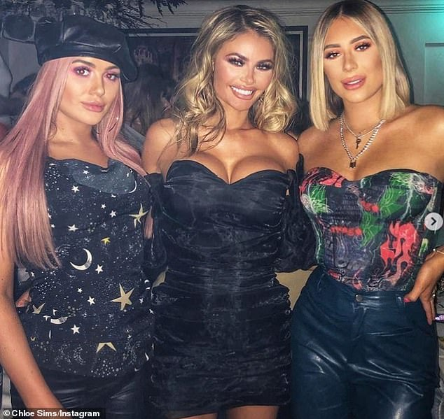 Safe: Chloe Sims, as well as her sisters Frankie and Demi (pictured), will all remain on the reality series