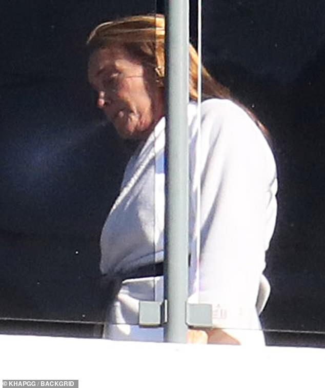 Littering: Jenner, 71, who is in Australia to star on Channel Seven's Big Brother VIP, risked a small fine by throwing her ciggie onto the street below, and the Prime Minister suggested it may be something for NSW Police to investigate