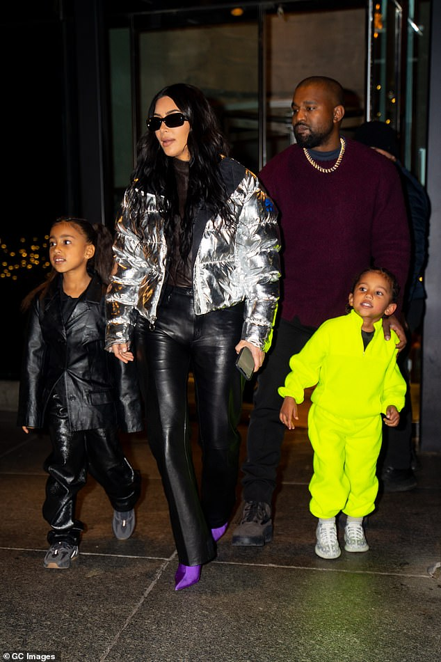 Support:While Kim Kardashian's marriage to Kanye West is over, the reality star is still supporting her estranged husband's musical endeavors