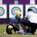 Tokyo Olympics: Russian archer COLLAPSES due to scorching heat during qualification round💥👩💥💥👩💥