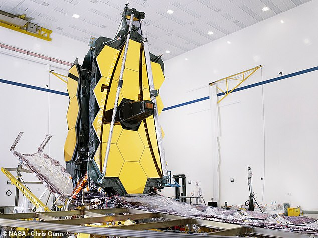 The James Webb Telescopehas a massive 21ft 4 inch mirror that was commanded to fully expand and lock itself into place, replicating the process that will happen in space