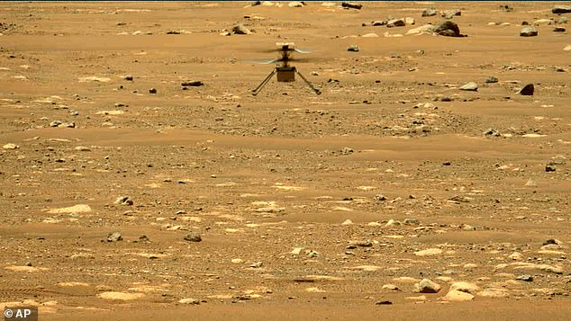 The tiny 4lb chopper could return to the Martian skies as early as tomorrow, according to the US space agency, almost three weeks after its last trip