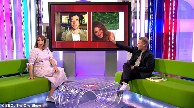 Difficult: Alex and her co-presenter Ronan Keating struggled throughout the show with technical mishaps from the video link between Shakira and the studio