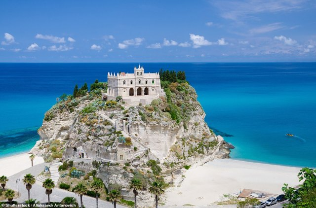 The buzzy seaside town of Tropea is beautifully scenic with the clifftop sanctuary of Santa Maria dell¿Isola (a 6th Century Benedictine monastery) being one of the must-visit spots