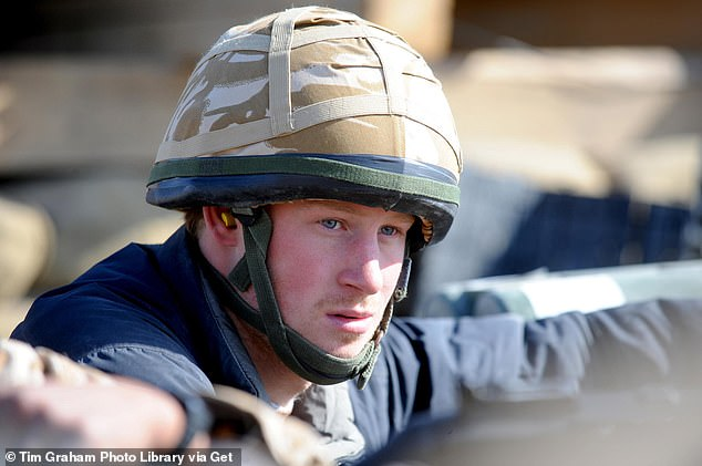 Harry's book deal deal has rattled some of his chums who fear unwanted revelations could be the final insult after years of them refusing to gossip about him (pictured serving with the army in Helmand province, Afghanistan, in January 2008)