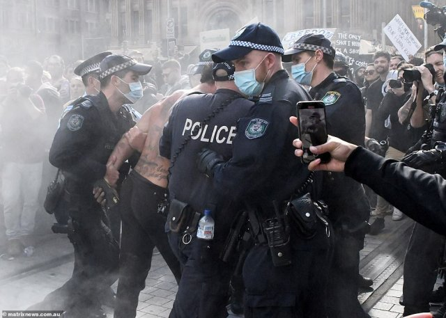 There are now fears the reckless protests across the country could morph into devastating Covid super spreader events, which - ironically - could see lockdowns extended