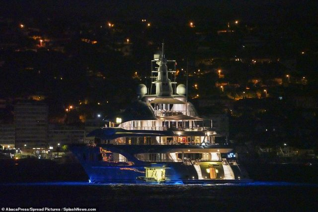 Wow: Launched in 2011, the vessel, named Valerie, has six decks all served by an elevator and has an onboard 20 foot-long pool and a Jacuzzi which is one of five outdoor spaces