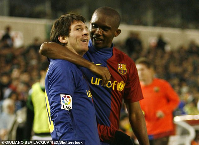 Eto'o scored 130 goals in 199 games for Barcelona, but Messi was the star when he left in 2009