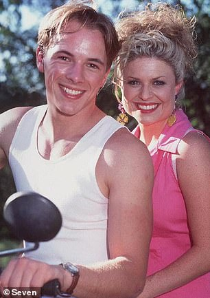 Starring role:Emily Symons is most well-known for playing Marilyn Chambers-Fisher from 1989 and is still on the show to this day. Pictured alongside Dieter Brummer