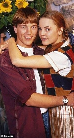 Soared to fame:Melissa George - who starred on Home and Away from 1993 to 1996 - became hugely popular on the soap as Shane's wife Angel, and to this day the duo remain one of the soap's most-loved couples. Pictured: Melissa and Dieter
