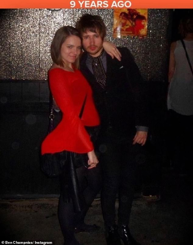 Long term:The pair have been an item for a decade, with Ben recently sharing a post of himself cuddled up to his wife alongside the caption: 'Look at those youngsters!! 9 years ago in Manchester'