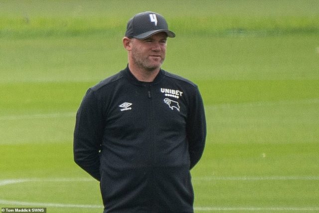 Wayne Rooney at Derby FC Training Ground this morning showed little sign of the events of the weekend's night out