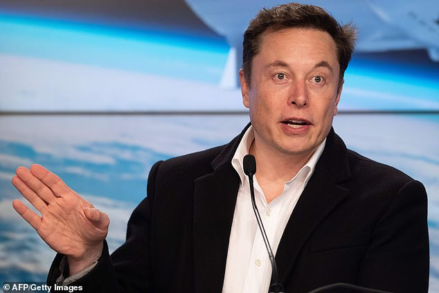 SpaceX chief and renowned billionaire Elon Musk (pictured) also owns car maker Tesla, neurotechnology firm