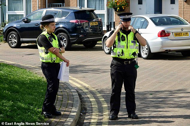 Police were standing guard outside the 17-year-old's home