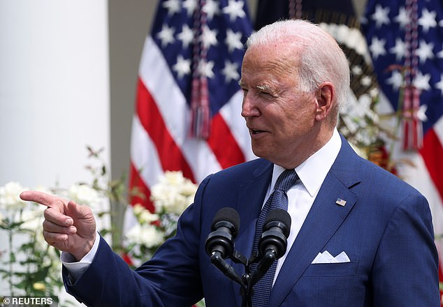 Winning bipartisan support for the infrastructure bill is critical to White House hopes of pushing through a bigger $3.5 billion spending package without Republican votes. On Monday, Biden said he was 'optimistic' about reaching a deal