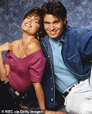 Off-screen romance:She recently talked about dating Patrick Muldoon when he played her brother on Days Of Our Lives. Pictured in 1992