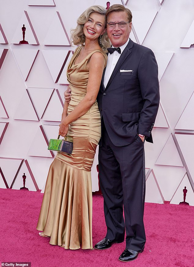 Oscars date: Aaron and Paulina attended the Academy Awards together in April in Los Angeles
