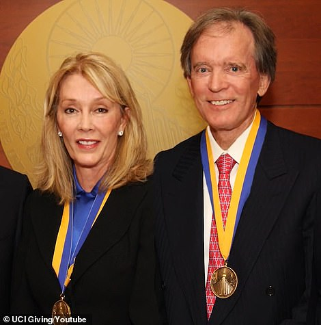 Sue Gross, the ex-wife of billionaire bond king Bill Gross (pictured together in 2012), is selling her Beverly Hills estate for $38million three years after purchasing it from Ellen DeGeneres