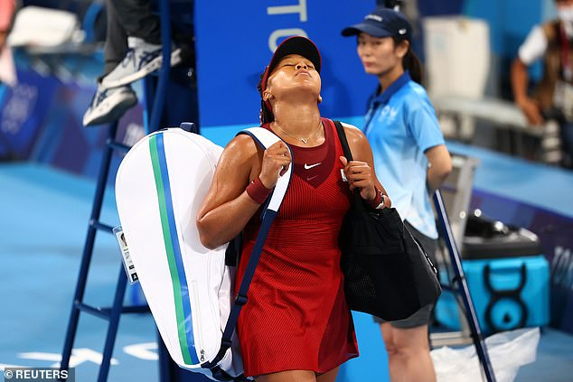 Osaka swiftly departed the court and did not stop to speak to reporters after the match